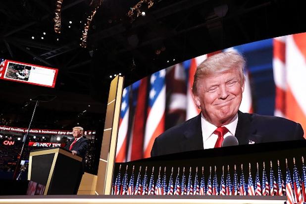 Ngày 21/7/2016, ông Donald Trump chính thức nhận đề cử của đảng Cộng hòa làm ứng viên đại diện cho đảng ra tranh cử tổng thống Mỹ (Ảnh: NYT)