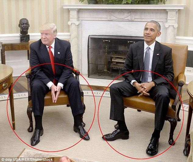 Chuyên gia phân tích dáng ngồi của ông Trump và ông Obama tại Nhà Trắng (Ảnh: REX)