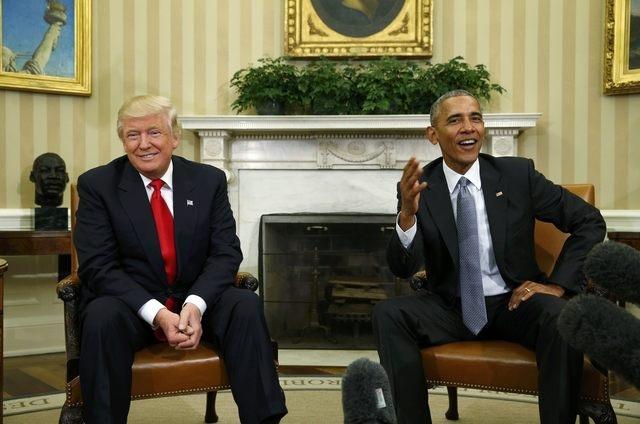 Tổng thống Barack Obama (phải) và người kế nhiệm Donald Trump gặp nhau tại Nhà Trắng hôm 10/11 (Ảnh: Reuters)