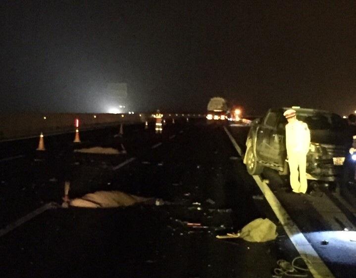Hiện trường vụ tai nạn khiến hai người tử vong