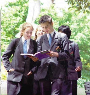 Sinh viên tại trường Trung học Auckland International College