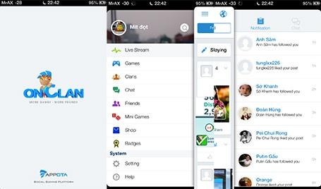 onClan của Appota là một mạng xã hội đích thực