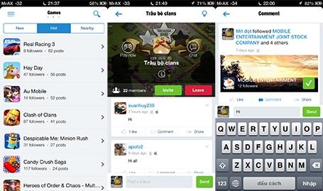 Tính tương tác cao dành cho game thủ được Appota đặt lên hàng đầu trong onClan