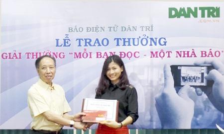 Dân trí trao giải thưởng Mỗi bạn đọc - Một nhà báo