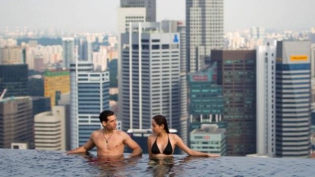 Hồ bơi vô cực tại khách sạn Marina Bay Sands, Singapore