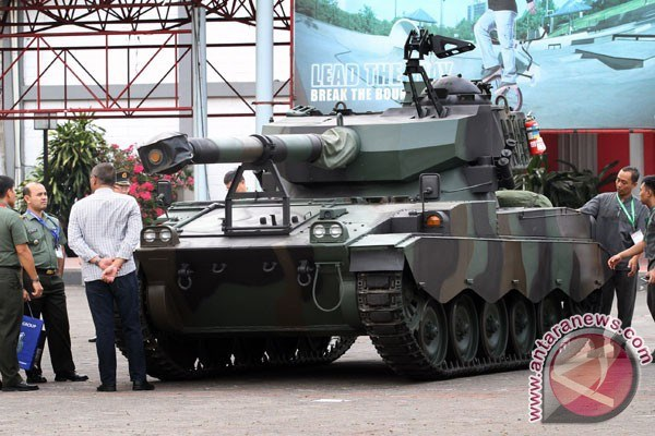 Một loại xe tăng tại triển lãm Indo Defence Expo 2014. (Nguồn: www.antaranews.com)