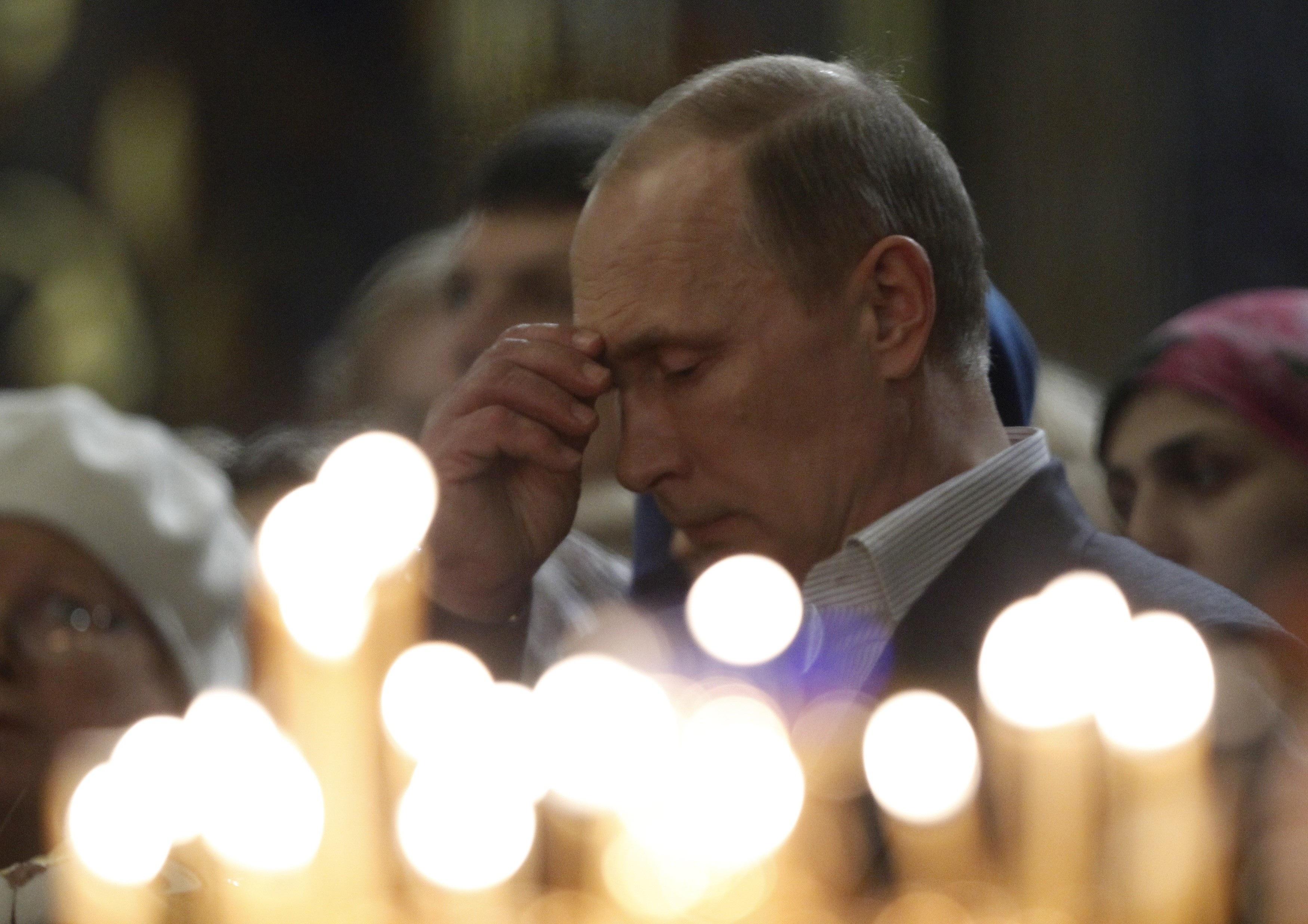 Tổng thống Putin là người theo Thiên chúa giáo chính thống (Ảnh AP)