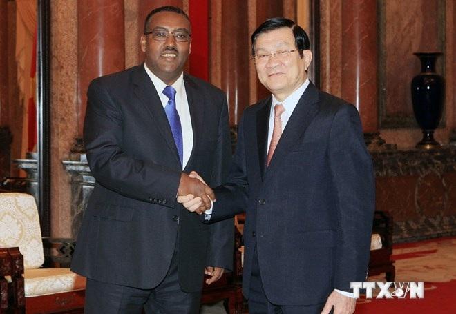 Chủ tịch nước Trương Tấn Sang tiếp Phó Thủ tướng Ethiopia