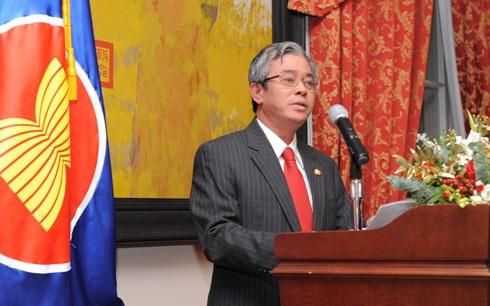 Đại sứ Việt Nam tại Mỹ - Phạm Quang Vinh phát biểu tại buổi lễ