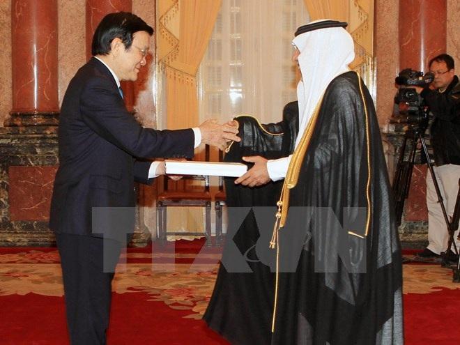 Chủ tịch nước Trương Tấn Sang tiếp Đại sứ các nước trình quốc thư