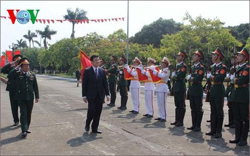 Chủ tịch nước Trương Tấn Sang dự kỷ niệm 70 năm thành lập trường Sĩ quan Lục quân 1