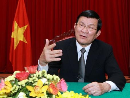 Chủ tịch nước Trương Tấn Sang (Ảnh: TTXVN)