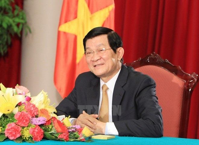Chủ tịch nước Trương Tấn Sang. (Ảnh: Nguyễn Khang/TTXVN)