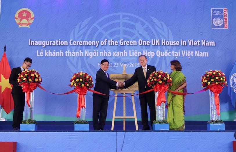 Tổng thư ký LHQ Ban Ki-moon tại buổi họp báo