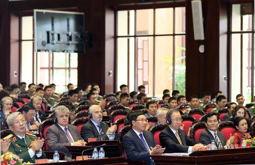 Hội nghị  sơ kết 1 năm thực hiện nhiệm vụ tham gia hoạt động GGHB Liên hợp quốc chiều ngày 23/5