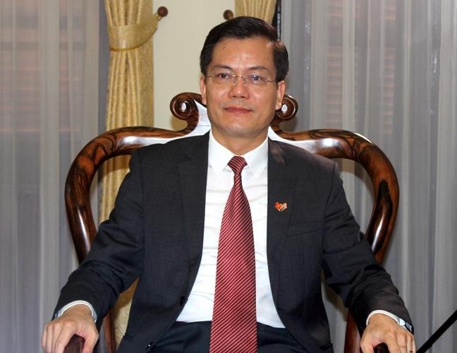 Thứ trưởng Bộ Ngoại giao Hà Kim Ngọc trả lời phỏng vấn phóng viên Dân trí (Ảnh: