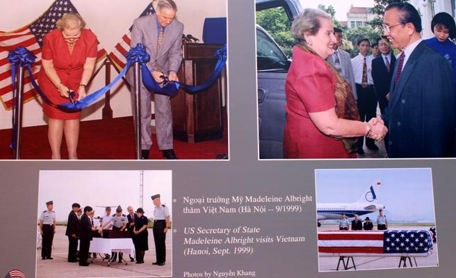 Ngoại trưởng Mỹ Madeleine Albright thăm Việt Nam (Hà Nội-9/1999) (Ảnh: Nguyễn Khang)