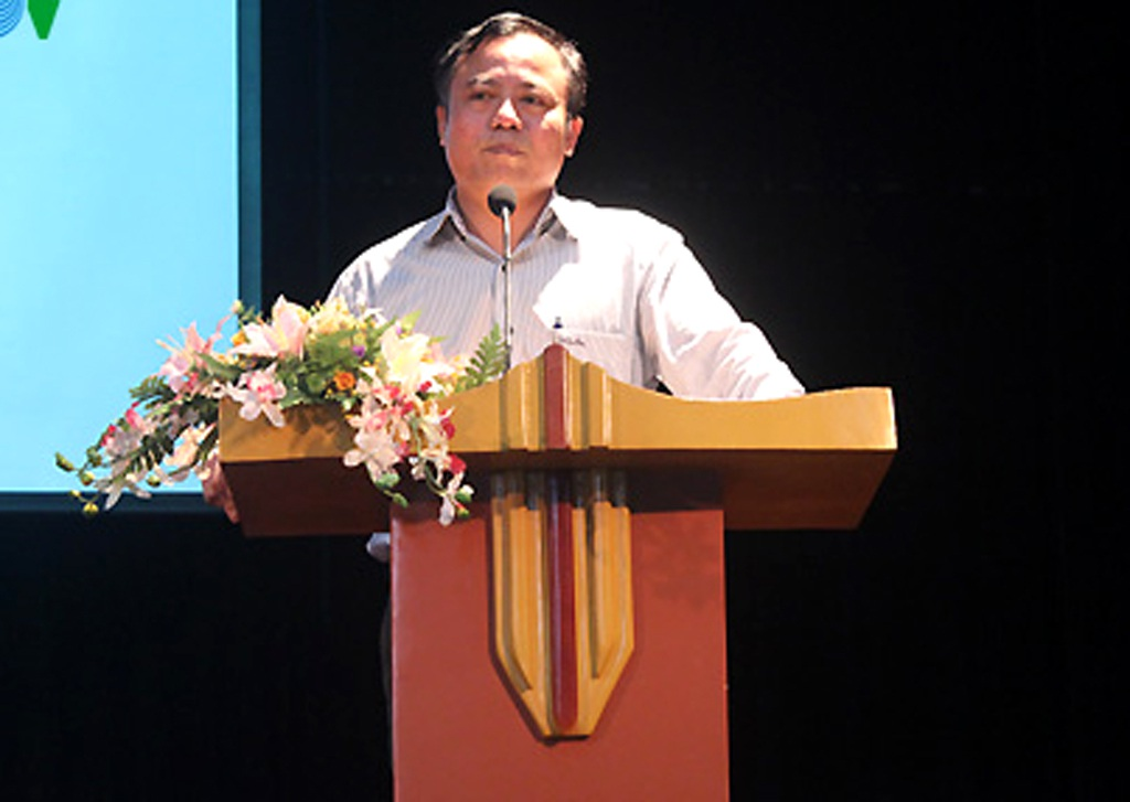 Ông Nguyễn Đăng Chương, Cục trưởng Cục Nghệ thuật Biểu diễn tại cuộc họp báo (Ảnh: Huy Phương)