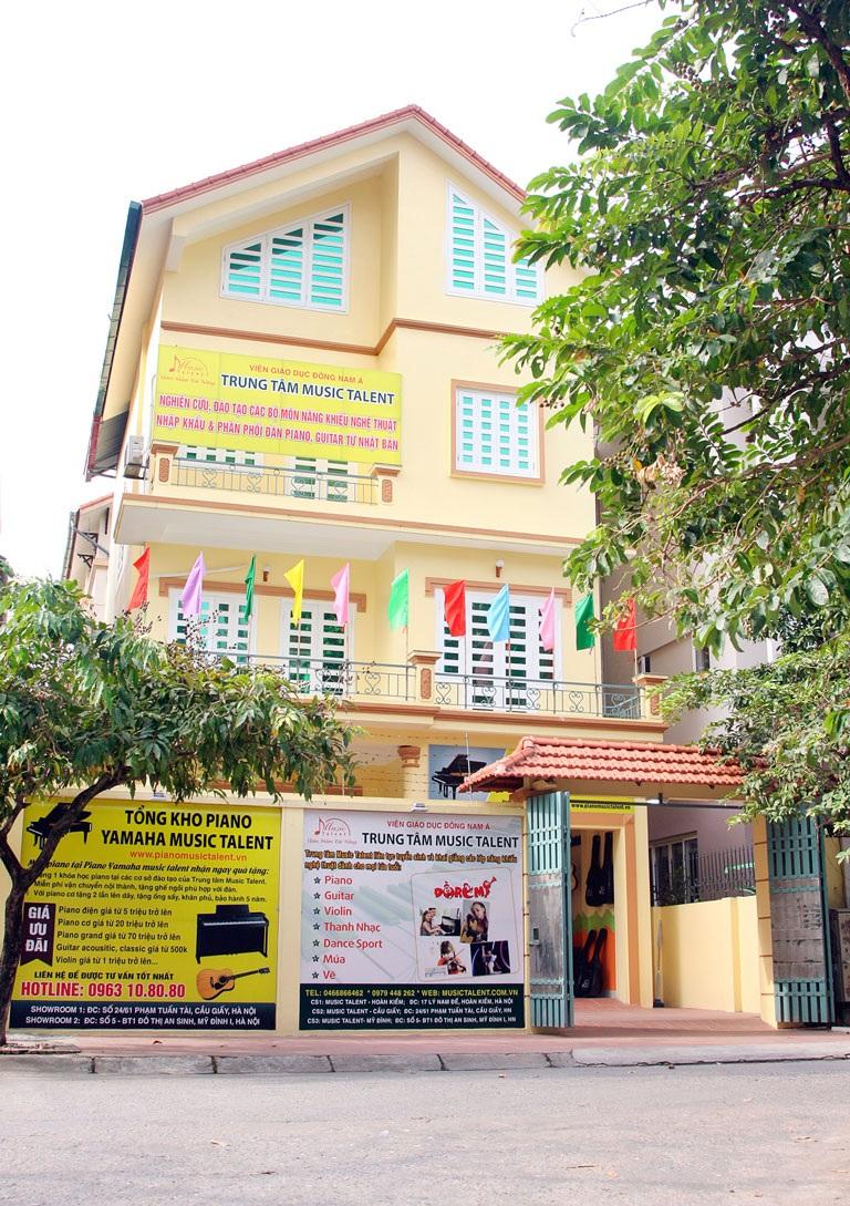 Cơ sở đào tạo và lớp học của Trung tâm Music Talent.
