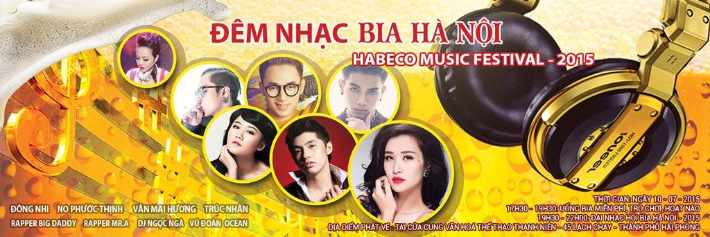 Đêm nhạc bia Hà Nội – Habeco Music Festival 2015 là đại nhạc hội lớn