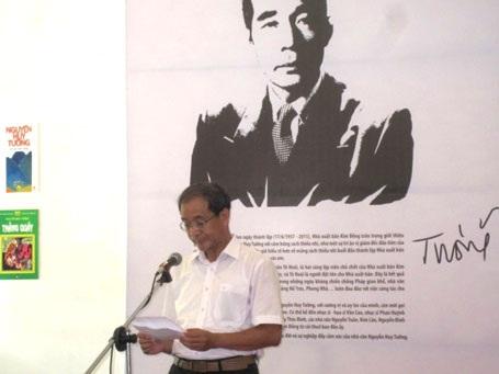 Ông Nguyễn Huy Thắng phát biểu tại buổi lễ khai mạc (Ảnh: Kim Nương)