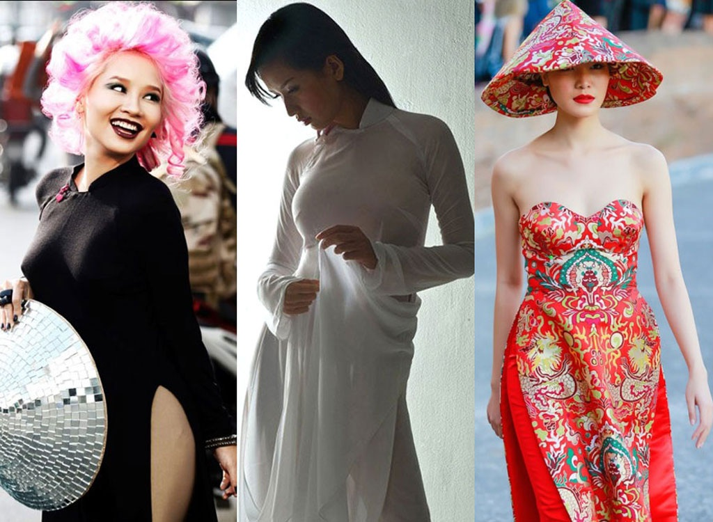 Nhiều hoa hậu, nghệ sĩ điêu đứng vì scandal áo dài