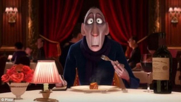 """Trong bộ phim hoạt hình """"Ratatouille"""" (Chuột đầu bếp - 2007), nhân vật Anton Ego, một chuyên gia phê bình ẩm thực, là một người đàn ông nhỏ nhen và hay cáu giận, vì vậy, gương mặt của nhân vật này cũng khá dài và nhọn."""