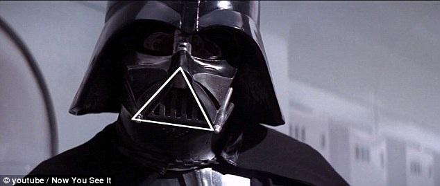 """Trong loạt phim """"Star Wars"""" (Chiến tranh giữa các vì sao), nhân vật Darth Vader đội chiếc mũ có hình tam giác ở phía trước, ngay lập tức đưa lại ấn tượng rằng nhân vật này rất nguy hiểm."""