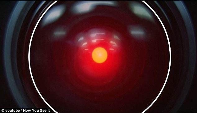 """Nếu trong khuôn hình xuất hiện hình tròn, điều đó biểu trưng cho một góc nhìn theo dõi, giám sát, chẳng hạn như cảnh phim này xuất hiện trong """"Space Odyssey"""" (Chuyến du hành không gian - 1968)."""
