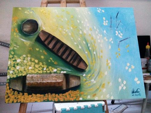 Những gam màu hy vọng của họa sĩ tật nguyền Lê Minh Châu - 6