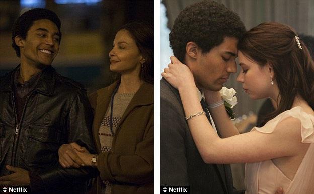 Ảnh trái: Nữ diễn viên Ashley Judd vào vai mẹ của ông Obama - bà Ann Dunham. Ảnh phải: Trong phim sẽ không có sự xuất hiện của nhân vật nào mang tên Michelle (tên phu nhân của ông Obama), thay vào đó sẽ là một cô bạn học da trắng xuất thân giàu có mang tên Charlotte (dựa trên nhân vật có thật từng gắn bó với ông Obama một thời sinh viên - cô Genevieve Cook).