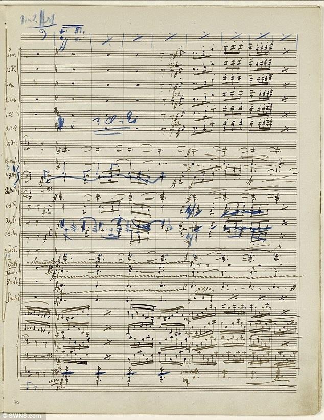 Đây là bản nhạc viết tay do chính nhà soạn nhạc Gustav Mahler thực hiện cho Bản giao hưởng số 2 của ông, dài 232 trang, cần một dàn nhạc 90 thành viên biểu diễn trong 90 phút.