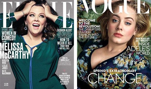 """Những người mẫu, ngôi sao có thân hình """"đầy đặn"""" đã xuất hiện trên 9% tổng số bìa tạp chí thời trang được thống kê."""