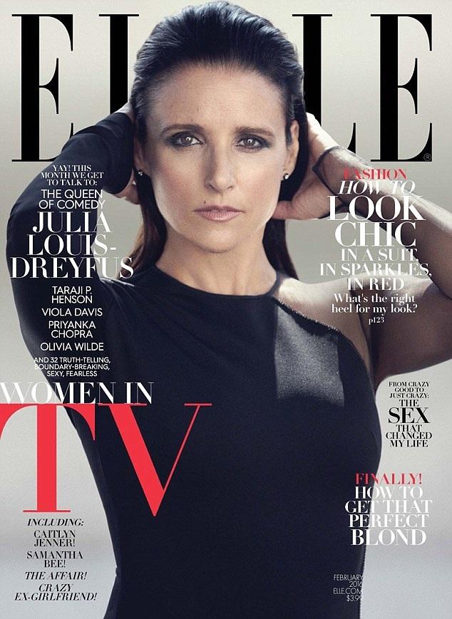 Nữ diễn viên người Mỹ Julia Louis-Dreyfus (55 tuổi) là một trong những nhan sắc cao niên được mời xuất hiện trên bìa tạp chí thời trang trong năm qua.