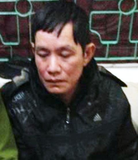 Đối tượng Lương Văn Phong tại cơ quan điều tra.