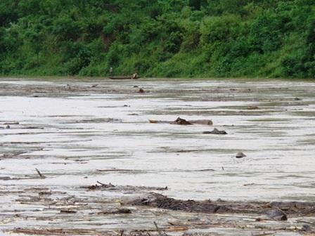 Đắm thuyền trên sông Lam, một người mất tích - 1