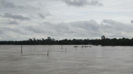 Nước sông Lam dâng cao, hàng trăm hộ dân ngập lụt  - 10