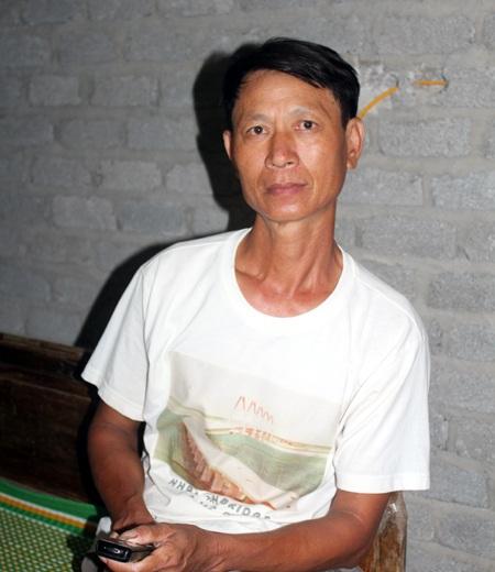 Ông Trần Văn Danh (48 tuổi) bố của thuyền viên Trần Văn Dương
