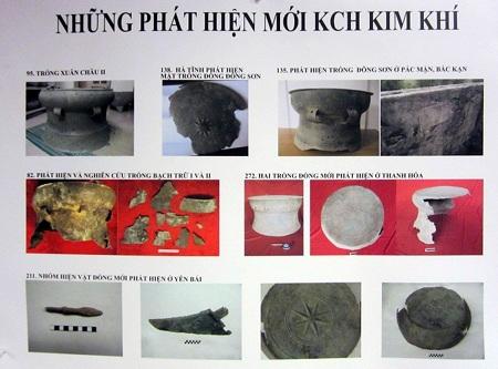 Hình ảnh khai quật tại các địa phương được trưng bày trong hội nghị Khảo cổ 2013.