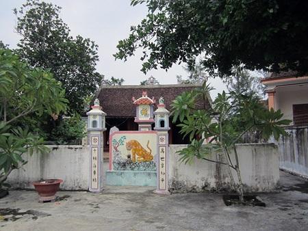 Nhà thờ họ Nguyễn Trọng nơi phát hiện ra sắc phong lụa quý hiếm.