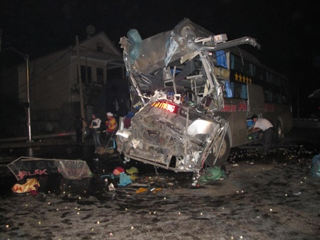 Vụ tai nạn xảy ra vào khoảng 2h sáng ngày 21/2.