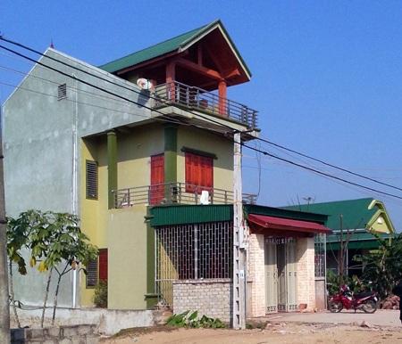 Ngôi nhà khang trang của bà Hoa tại xã Nghi Tiến.