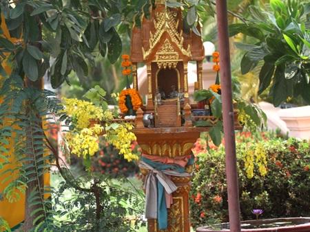 Các nơi thừa tự trong gia đình hoa Đọc Khun không thể thiếu ở Tết Lào.