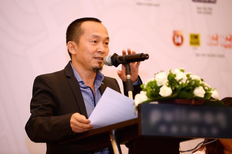 Nhạc sỹ Nguyễn Quốc Trung phát biểu tại cuộc họp báo