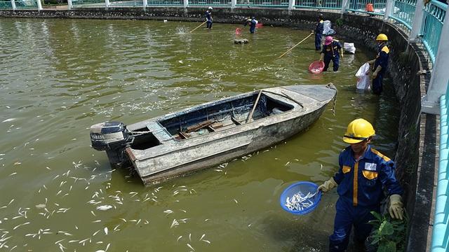 Tiến sĩ Bùi Quang Tề: Cá chết ở Hồ Tây là do con người xả thải chất độc hại xuống hồ quá nhiều (Ảnh: Mạnh Thắng).