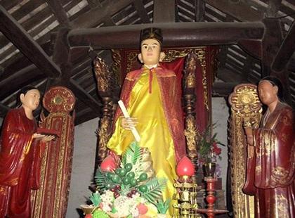 Bức tượng thờ Đức Linh Lang Đại vương ở Hải Phòng có khả năng đứng lên ngồi xuống