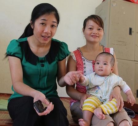 Đứa con của Hường đang được Trung tâm Bảo trợ xã hội tỉnh Cao bằng chăm sóc.