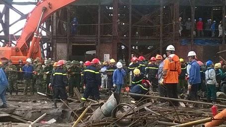 Theo ghi nhận, một khối lượng lớn sắt thép đã được di dời.