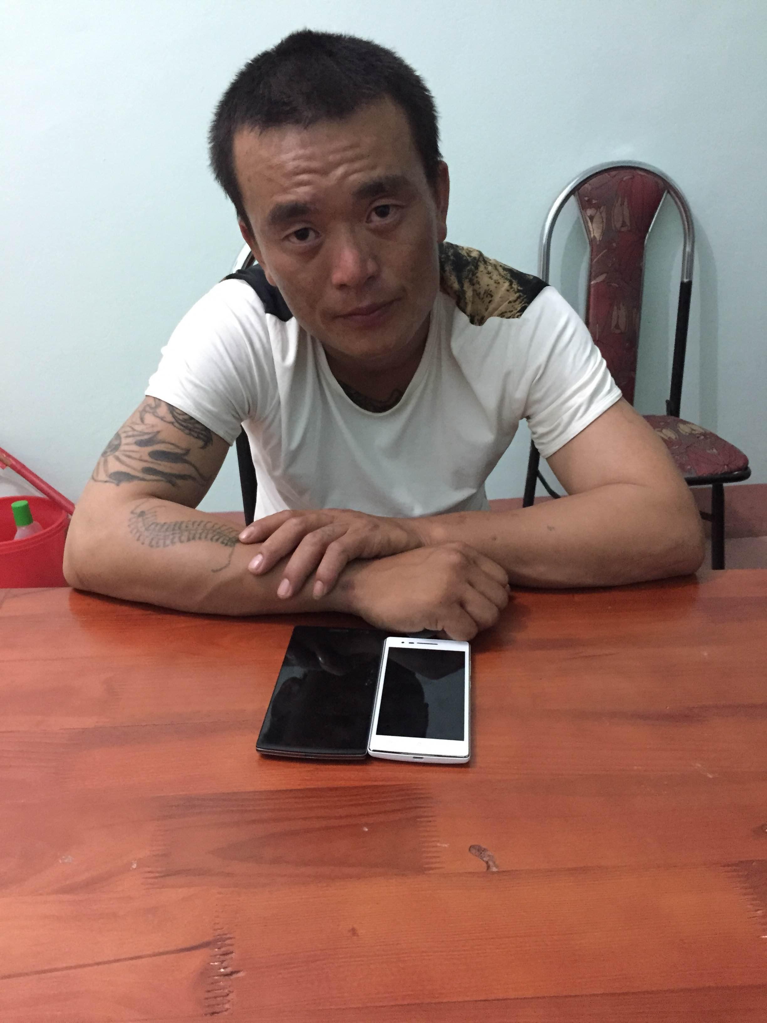 Đối tượng Dong Hang tại cơ quan điều tra