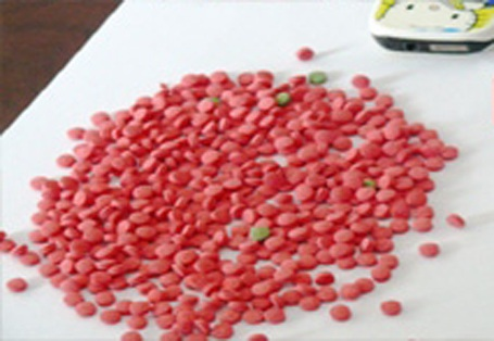 Gần 500 viên ma túy tổng hợp bị cơ quan chức năng thu giữ tại hiện trường